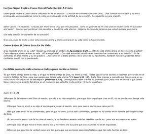 Salvation Prayer in Spanish