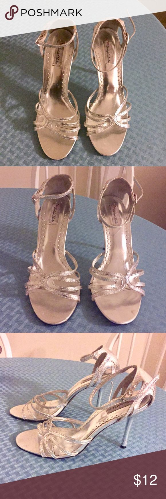 Silver Sandal Heels Strappy & Sexy  8.5 Only wore for ceremony of one wedding... they are a little too big for me. Bundle and Save!! Shoes Sandals