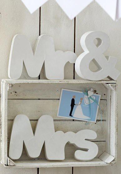 Mr. & Mrs. Schriftzug!  #Hochzeitsdeko #Hochzeit #Wedding