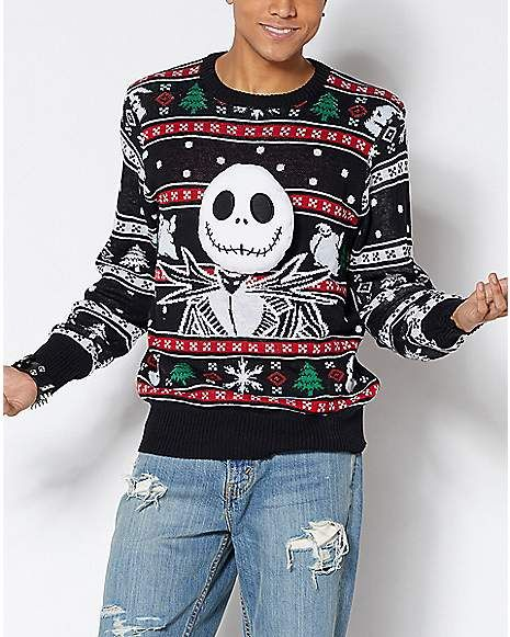 Jack Skellington Ugly Christmas Sweater The Nightmare Before