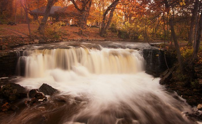 Minneopa State Park is the third oldest park in Minnesota. Located in Mankato, its main feature is the beautiful Minneopa Falls.