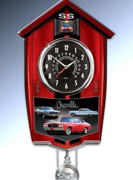 Chevelle cuckoo clock nascar and related topics pinterest cuckoo clocks and clocks - Motorcycle cuckoo clock ...