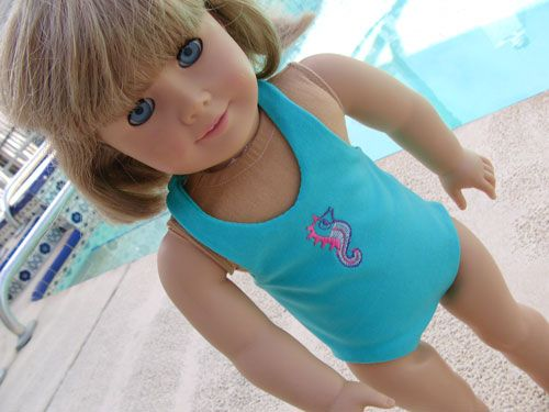 Beach Baby Doll's Blog: Free sewing pattern and guidebook for swim suit to fit American Girl Dolls