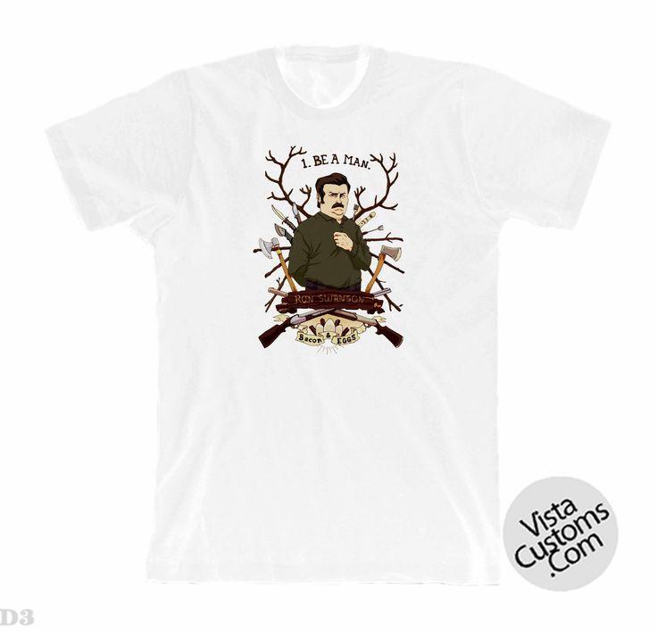 Ron swanson White New Hot T-Shirt