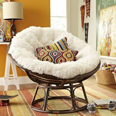 Papasan Chair Choice #2 - Shaggy Sand: Base, bowl and cushion sold  separately - 25+ Best Ideas About Papasan Cushion On Pinterest Papasan Chair