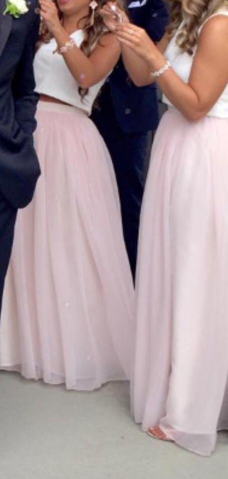 Two piece bridesmaid dresses! So unique I love it