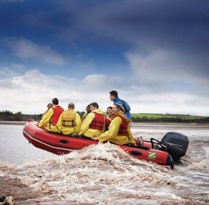 When the tides send the waters of the Bay of Fundy surging back into the Shubenacadie River, hearty adventurers go tidal-bore rafting. #Halifax NS (Photo: Nova Scotia Tourism Agency) Click to check out our list of unforgettable day trips from Halifax!