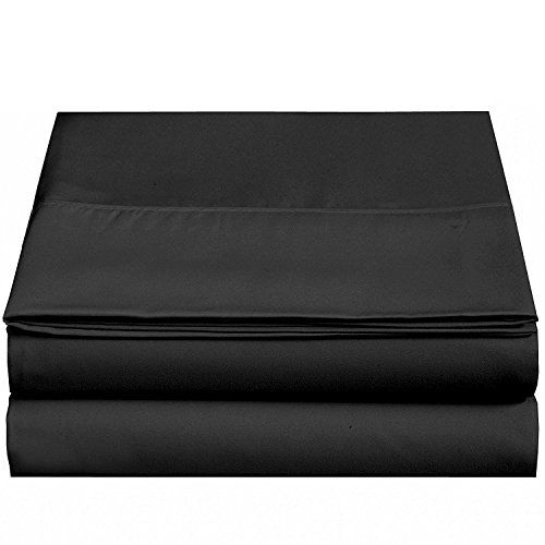 4u Life Flat Sheet Ultra Soft Comfortable Microfiber Black Twin Best