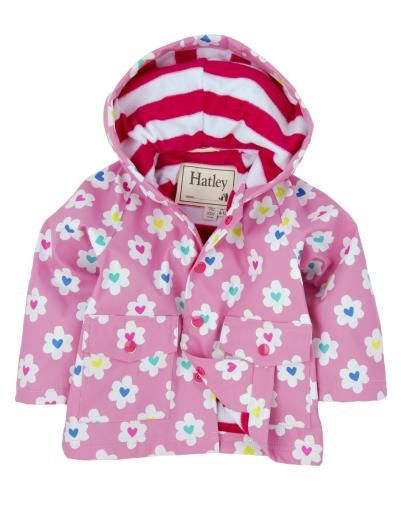 Hatley Girls Raincoat, Flower Heart Garden - £31.99 - A great range of Hatley Girls Raincoat Flower Heart Garden - FREE Delivery over £25!