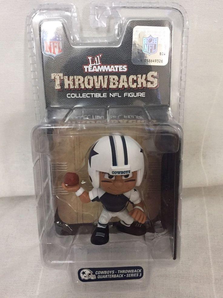 New NFL Lill Teammates Throwbacks Collectible Figure Dallas Cowboys Quarterback Toy