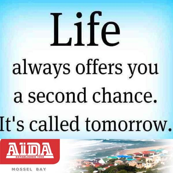 Life always offers you a second chance. It's called tomorrow. #quote #tomorrow #life