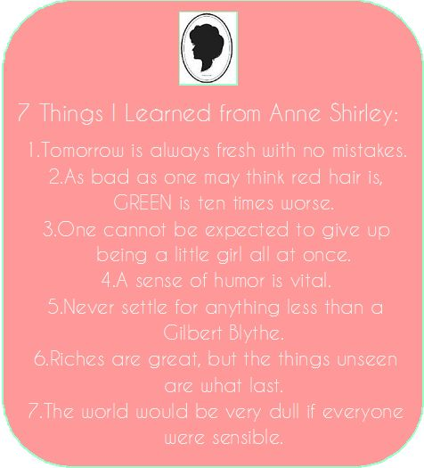 7 Things I Learned from Anne Shirley