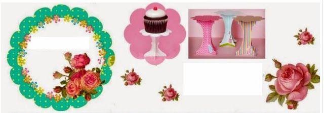 Shabby Chic Vintage: Free Printable Mini Cupcake Stand.