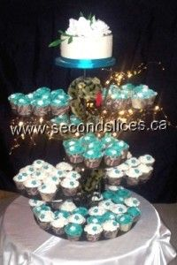 #Wedding #Cupcakes #Teal #white www.secondslices.com