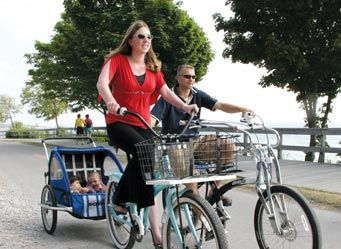 Bike riding on Mackinac Island. Our favorite!! #puremichigan