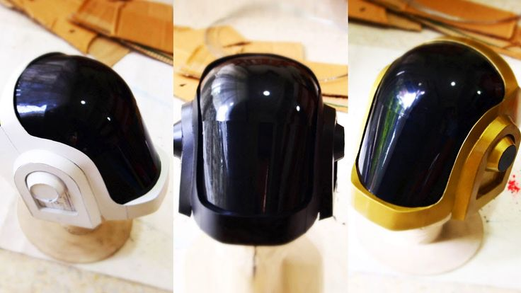 USE THIS for Guy Manuel - Dali-Lomo: Daft Punk Guy-Manuel Costume Helmet DIY - Cardboard (with template)