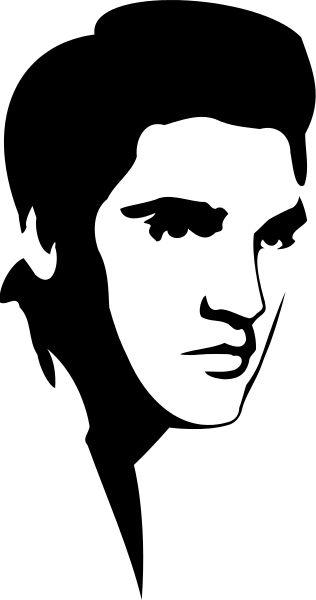 An Elvis Presley stencil, made with black spray paint.