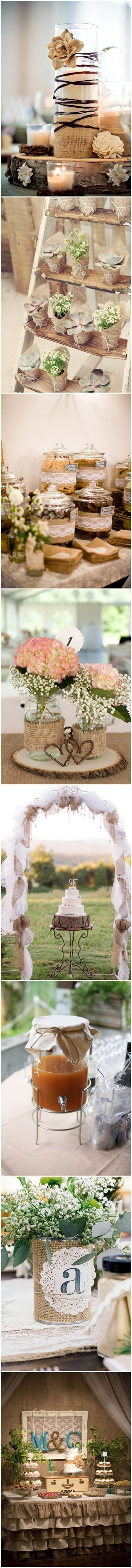 50+ Chic-Rustic Burlap and Lace Wedding Ideas