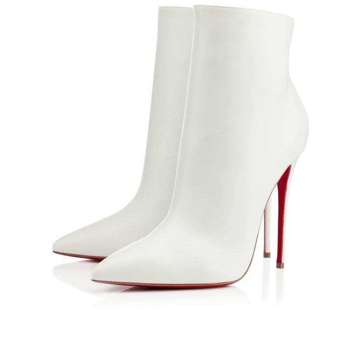 So Kate 100 Leather Ankle Boots - White Christian Louboutin Discount With Credit Card Clearance Big Discount Cheap Sale Pictures Clearance Browse EXMbkLbRqU