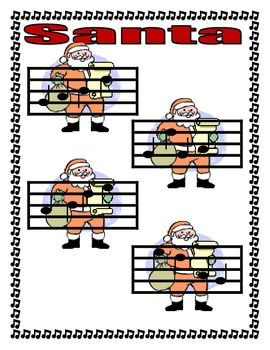 FREE DOWNLOAD - Santa Songs, A Do Pentatonic Holiday Game - The Sweetest Melody - A file folder game where students match solfege pitch names with notation in G.