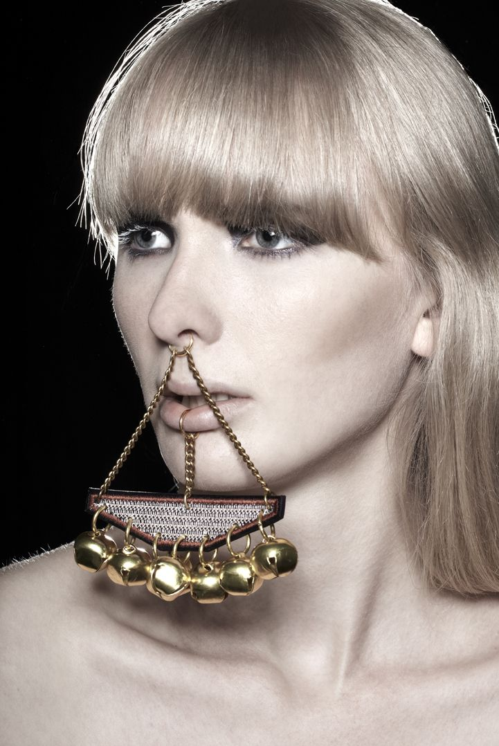 Quot Jangle Quot Digitally Embroidered Clip On Lip Ring Nose Ring