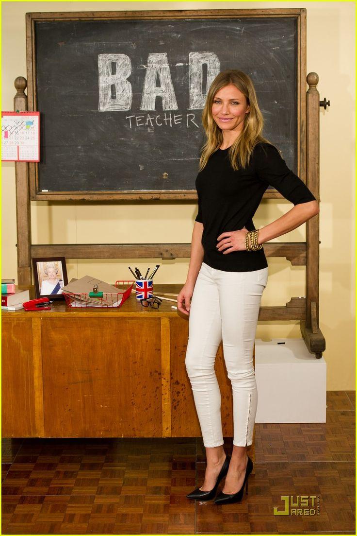 Bad Teacher, Cameron Diaz promo White jeans, Fashion