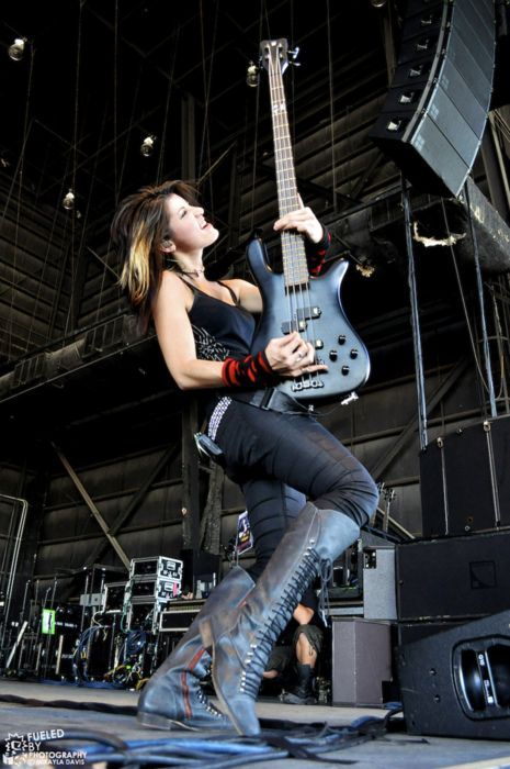 Emma from Sick Puppies. Bad ass bass player!