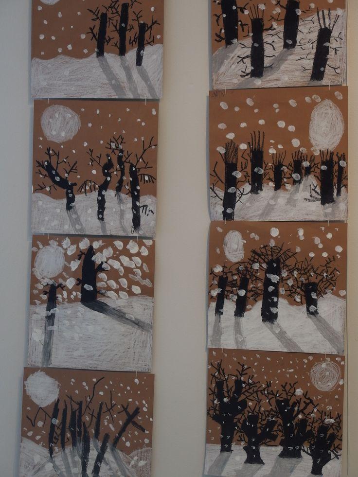 Arbres d'hiver- support carton