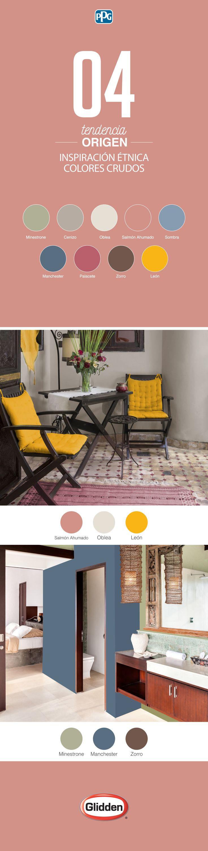 """Regresar a nuestras raíces es la propuesta de """"Origen"""", donde a través de las artesanías y la cultura indígena crea colores naturales y texturas terrosas. ¡Encuentra sus colores y combinaciones en nuestra aplicación: #GliddenColorApp! #TendenciasGlidden #Panamá #CostaRica #Honduras #Guatemala #Centroamérica #Hogar #Inspiración #Color #Colors #Deco #Ideas #DIY #Home #Calidad #Pinturas #Familia #Glidden #Pintura #PPG #ContigoSiempre"""