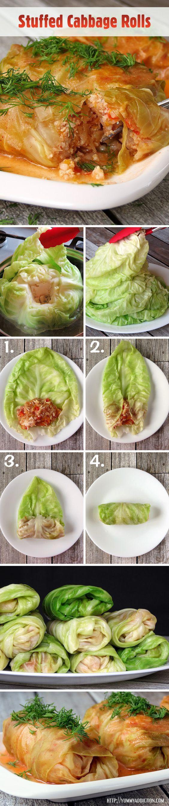 Stuffed Cabbage Rolls | YummyAddiction.com