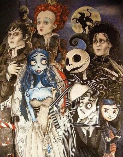doctorwho5143.tumblr.com - The Burton Family - 11 Most Impressive Fan-Made 'Nightmare Before Christmas' Crossovers