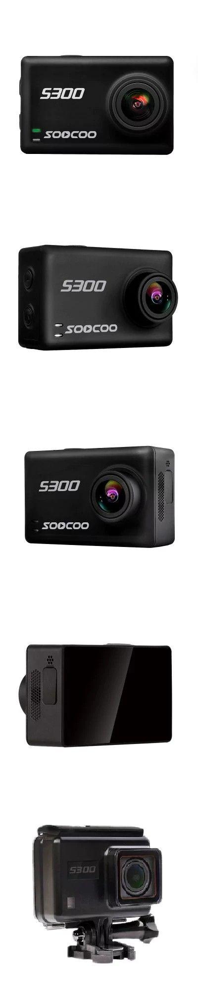 SOOCOO S300 Sports Camera Hi3559V100 + IMX377 Built-In WiFi Gyroscope Anti-shake 4K 30FPS External Microphone -$168