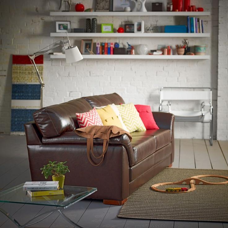 Sofá de 3 cuerpos y alfombra Grace
