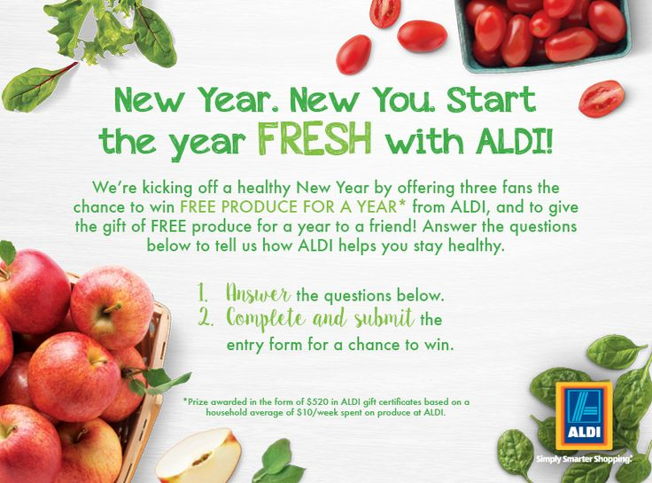 Share how you eat fresh with ALDI for a chance for you and a friend to win free produce for a year!