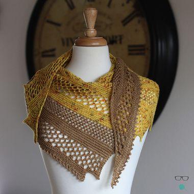 Unapologetic Knitter Spytacular Lace Shawl Knitting Pattern PDF