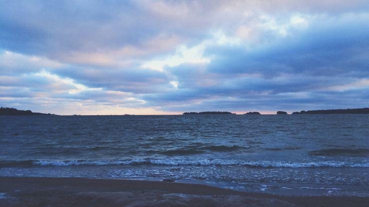 Sunset @ Haukilahti, Finland
