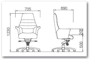 посмотреть размеры компьютерного кресла
