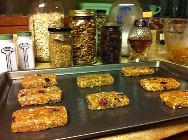 Homemade Organic Protein Bars Recipe - Food.com - 450601 More Great recipes...grab these 2 FREE books here! www.RealOrganicLife.com
