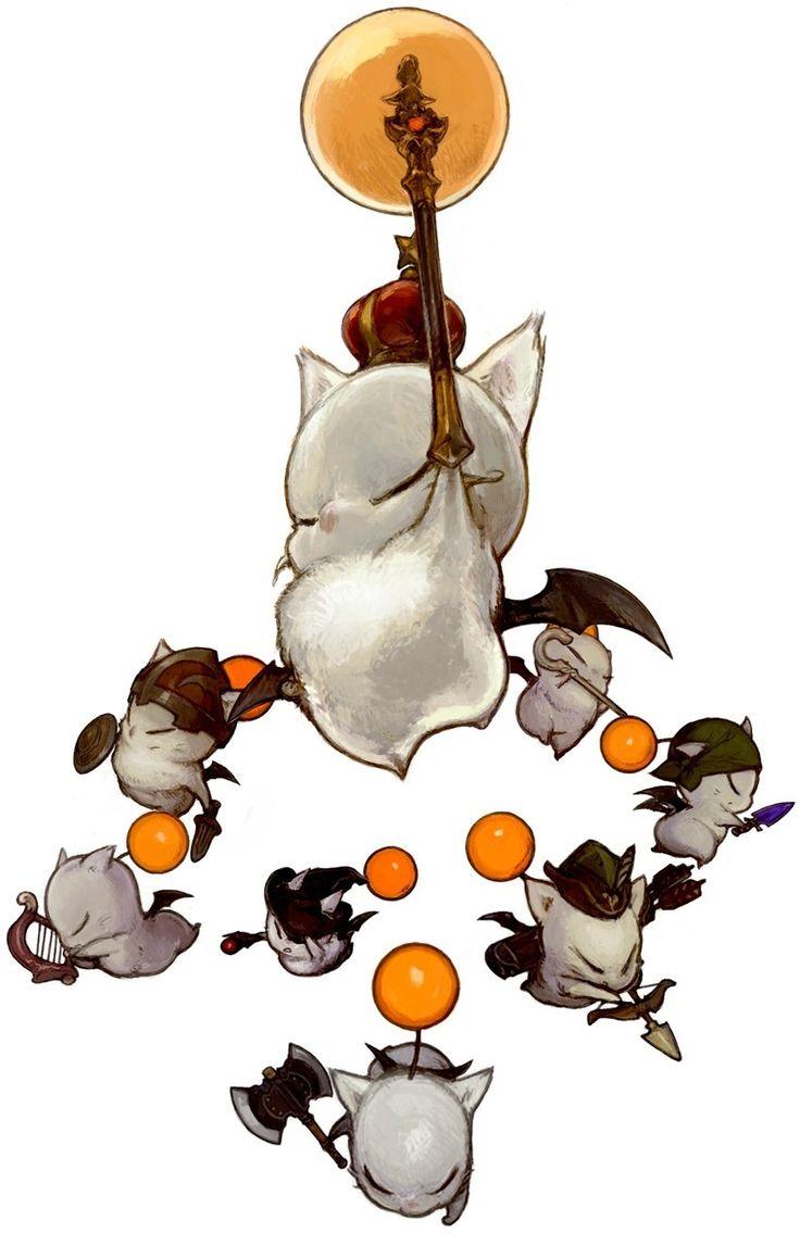 Final Fantasy XIV ~ official artwork of the Moogle's primal, Good King Moggle Mog the XII. #kupo