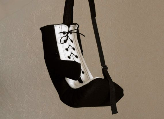 Black Felt Boxing Glove Bag / Backpack by krukrustudio on Etsy, $150.00