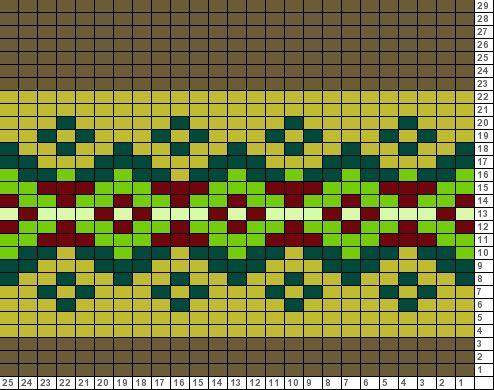 Tricksy Knitter Charts: 6-stitch rep fair isle