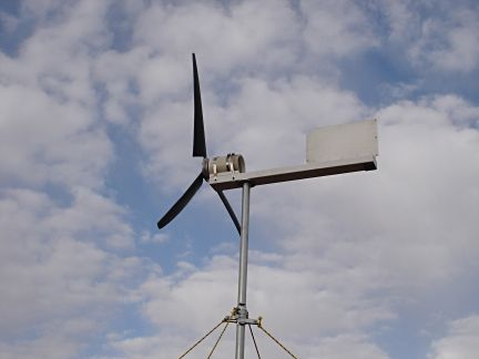 Home-Built Electricity Producing Wind Turbine:  http://www.earth4energymanual.com/