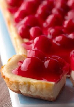 PHILADELPHIA New York Cheesecake Bars – New York may be the Big Apple, but when it comes to the city's iconic cheesecake, cherries rule the day.