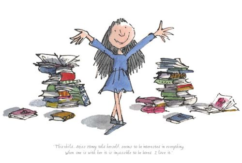 Matilda by Roald Dahl, illustrated by Quentin Blake