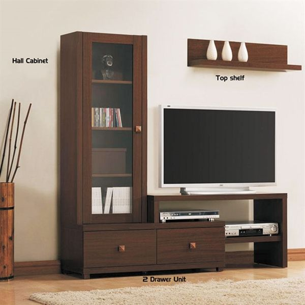 Unclutter your living room with this classy designed entertainment unit