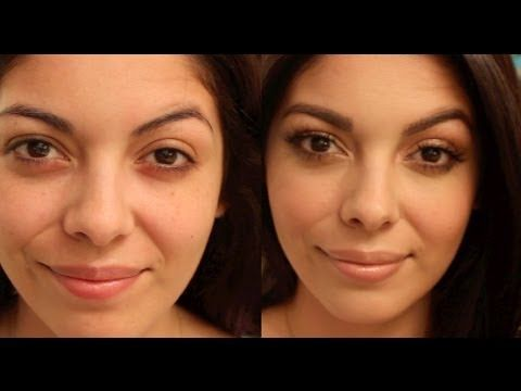 Bare Face Transformation - Gold Shimmery Eyes