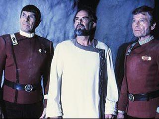 """Star Trek V: The Final Frontier   Caption: Spock, Sybok and McCoy find """"God"""""""