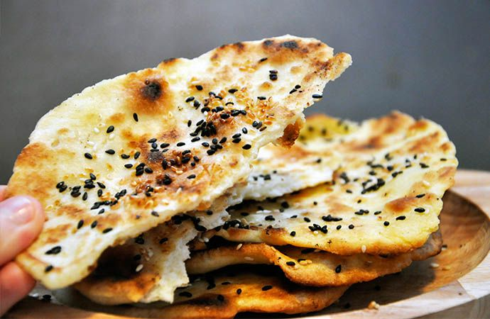Gluten-Free Flatbreads with Sesame - Skip the sesame and turn these into personal pizzas!