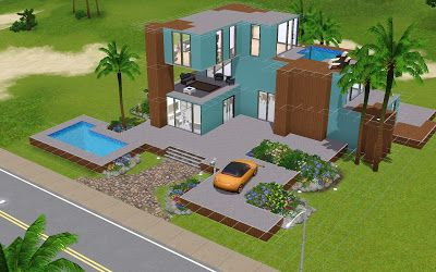 How to Sims: Sims 3 modern house