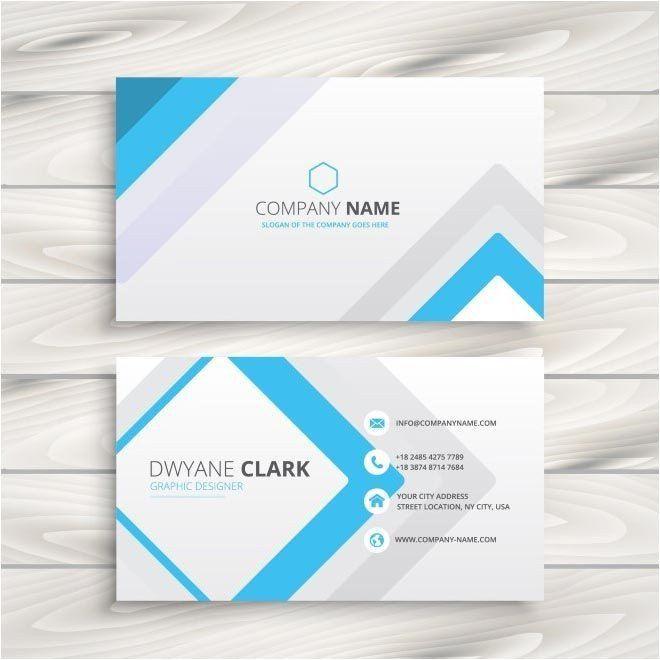 Business Card Template Vector Beautiful Pin By Wong Dingchuen On Branding Free Business Card Templates Business Card Design Visiting Card Design